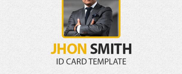 ID Card PSD Template 1