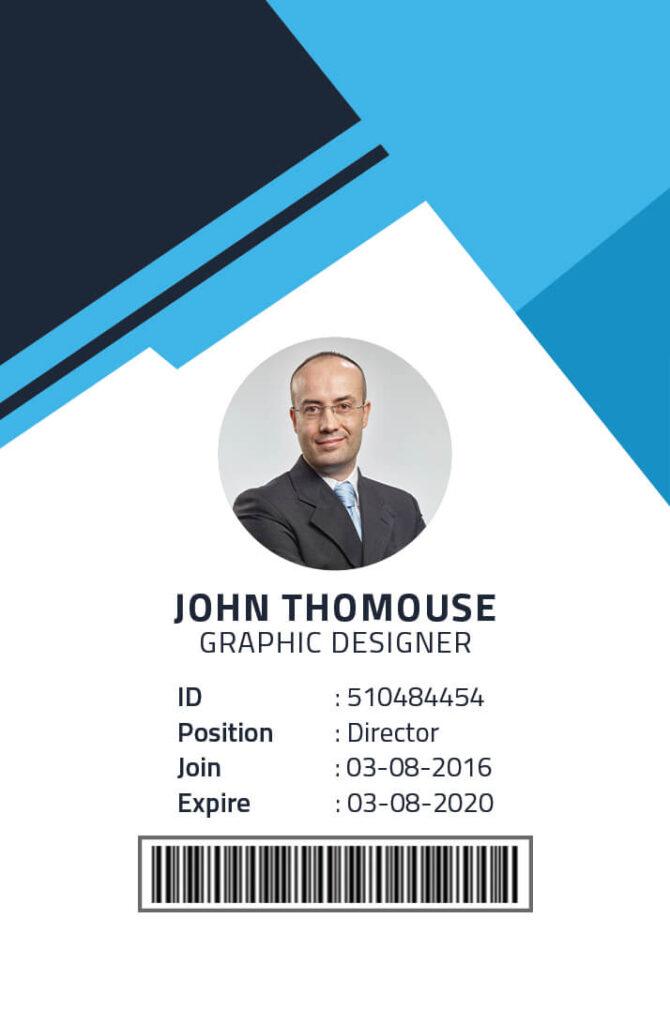 ID Card PSD Template 3