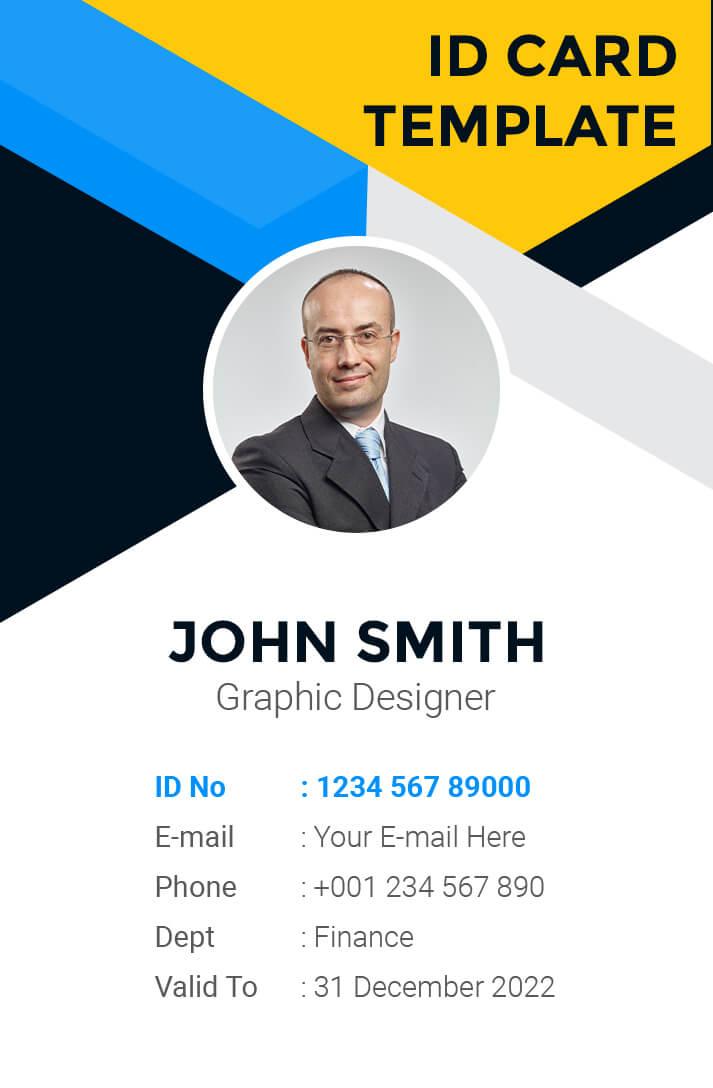 ID Card PSD Template 4