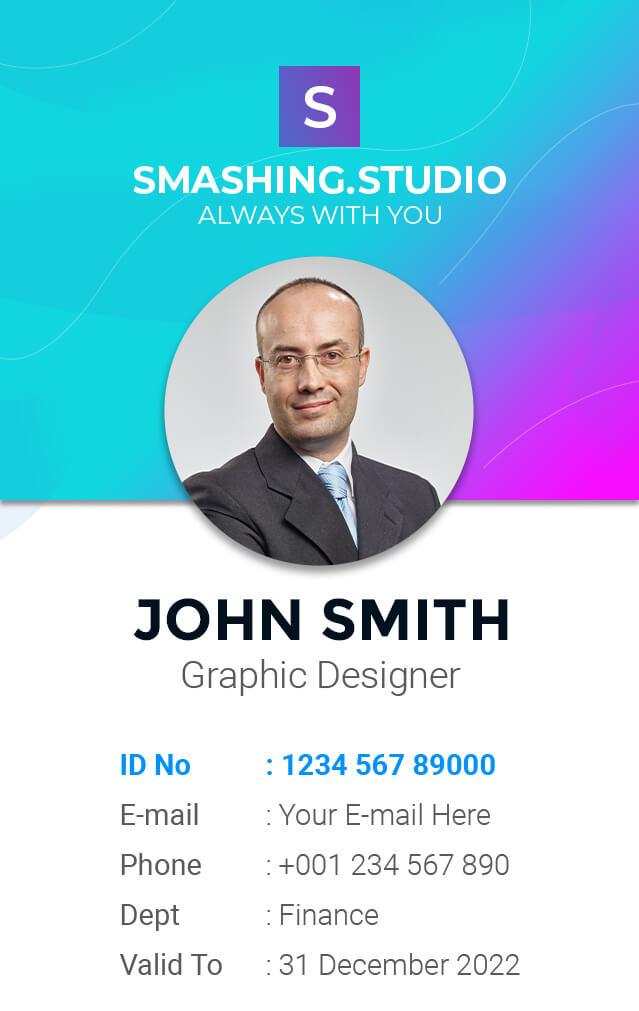 ID Card PSD Template 5