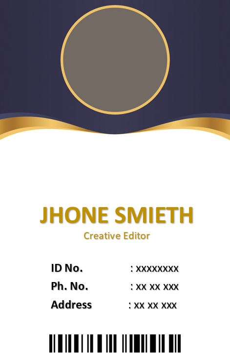 Printable Event ID Card Template 2