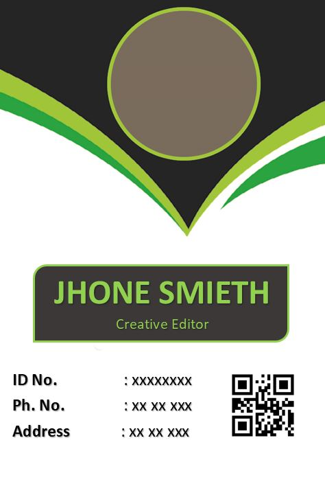 Printable Event ID Card Template 3