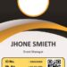 Printable Event ID Card Template 5