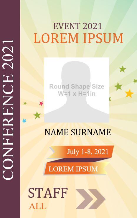 Free Printable Event ID card design 5